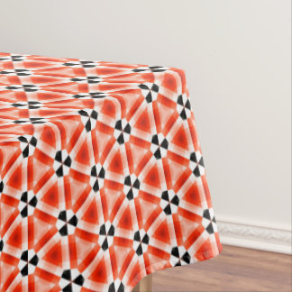 Red pattern tablecloth