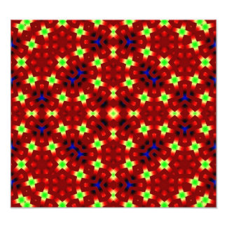 Red pattern with blue and light green art photo
