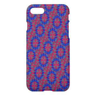 Red pattern with blue circle iPhone 8/7 case