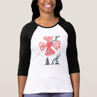 Red Patterned Flower T-Shirt
