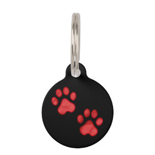 56e49b341833 Red Paw Print Custom Pet Tag Mom Misses Me