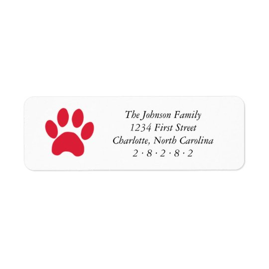 Red Paw Print Holiday