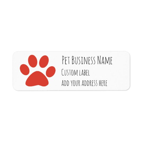 red paw print Pet Services Custom