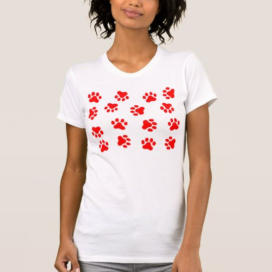 RED PAW PRINTS T-Shirt