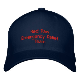 Red Paw Response Hat Embroidered Cap