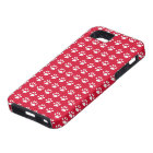 Red Pawprints Tough iPhone 5 Case