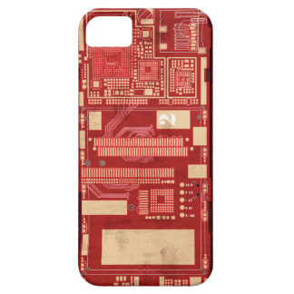 Red pcb circuit boart case for the iPhone 5