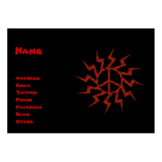 Red Peace Sigh Star Pack Of Chubby Business Cards
