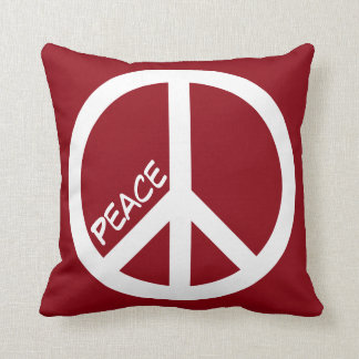 Red Peace Sign Pillow