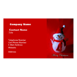 Red Peace Sign Snowman (Merry Christmas) Pack Of Standard Business Cards