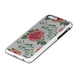 Red & Peach Roses Pattern Incipio Feather® Shine iPhone 6 Case