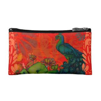 Red Peacock Cosmetic Bag