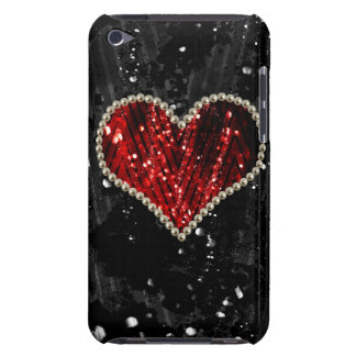 Red Pearl Heart iPod Touch Case