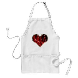 Red Pearl Heart Standard Apron