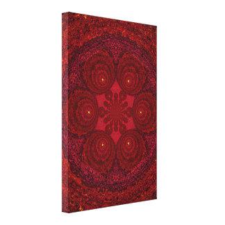 Red Pearl Mandala C1 SDL Gallery Wrap Canvas