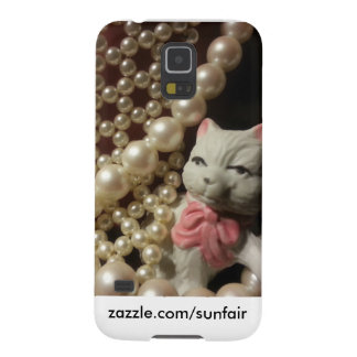 Red & Pearls Phone cover Cases For Galaxy S5