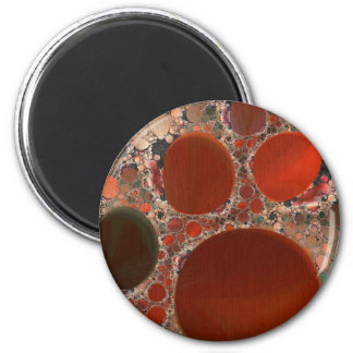 Red Pebbles Round Magnet