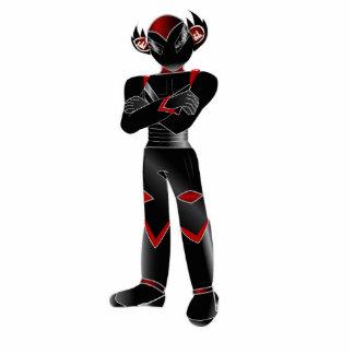 Red Peek Mascot Collectors Item. Standing Photo Sculpture