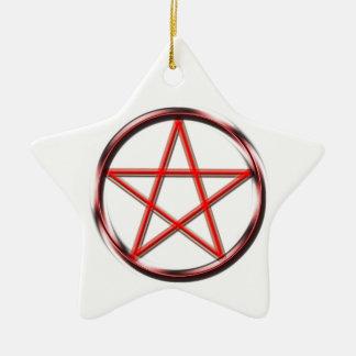 Red Pentagram Ceramic Star Decoration