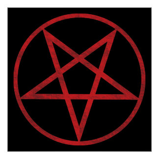 Red Pentagram Poster