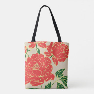 Red Peonies #2 Tote Bag