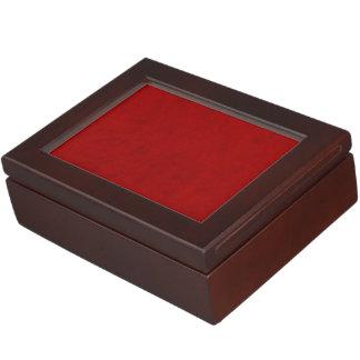 Red Peony Gambler Velvet Custom Home Casino Keepsake Box