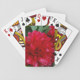 Red Peony Photo Classic Playing Cards