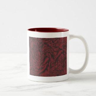 Red peony Two-Tone coffee mug