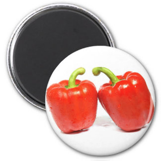 Red Pepper 6 Cm Round Magnet