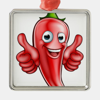 Red Pepper Cartoon Character Christmas Ornament