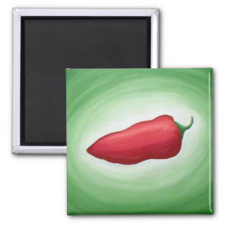 Red Pepper Pow! Square Magnet