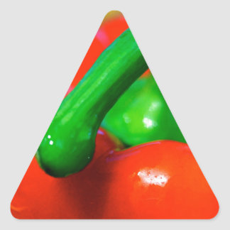 Red Pepper - products. Triangle Sticker