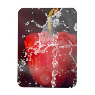 Red Pepper Splash Rectangular Photo Magnet