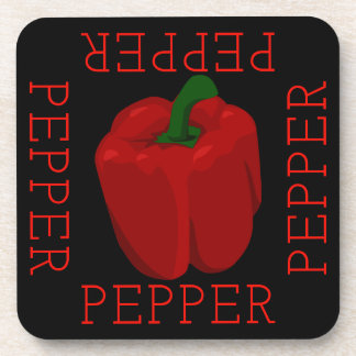 Red Pepper Square Coaster