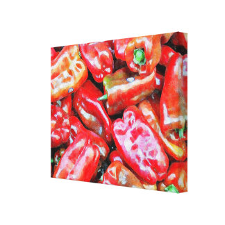 Red Peppers Canvas Prints