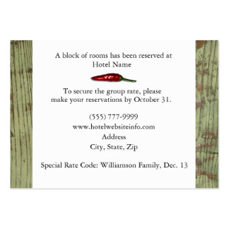 Red Peppers Hotel Accommodation Enclosure Cards Business Card Template