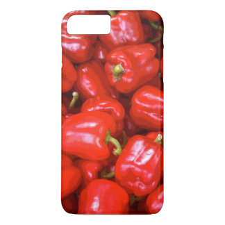 Red Peppers in Posterised Image iPhone 8 Plus/7 Plus Case