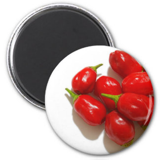 Red Peppers 6 Cm Round Magnet