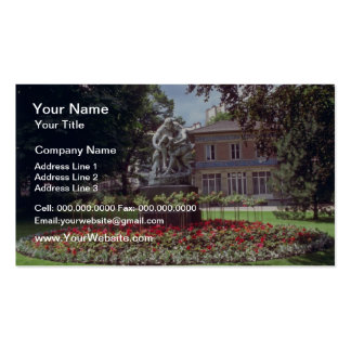 Red ?pernay, Champagne Region, France flowers Business Card Templates