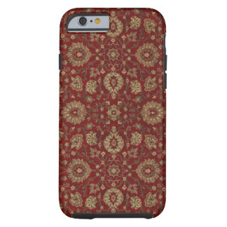 Red Persian scarlet arabesque tapestry Tough iPhone 6 Case