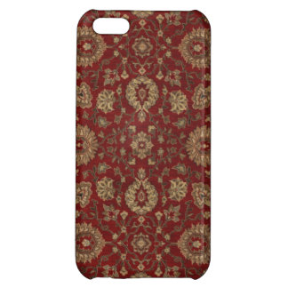 Red Persian scarlet arabesque tapestry Case For iPhone 5C