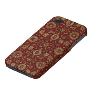 Red Persian scarlet arabesque tapestry iPhone 4 Covers
