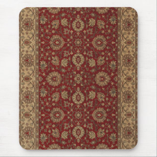 Red Persian scarlet arabesque tapestry Mouse Mat