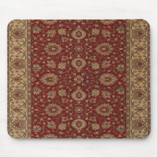 Red Persian scarlet arabesque tapestry Mousepads