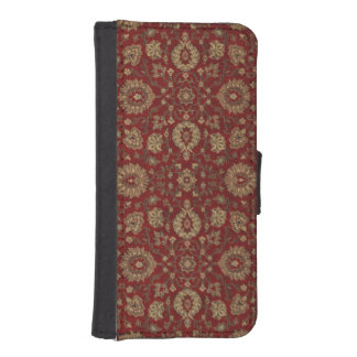 Red Persian scarlet arabesque tapestry iPhone 5 Wallet