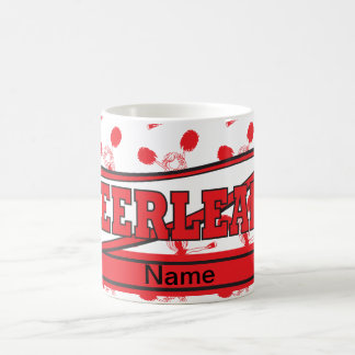 Red Personalize Cheerleader Mugs