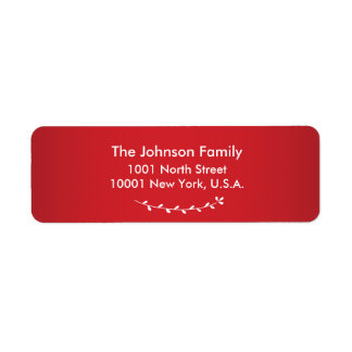 Red Personalized Christmas Return Address Labels