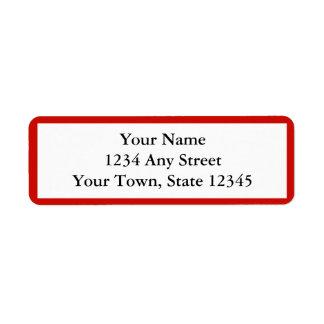Red Personalized Envelope Return Address Labels