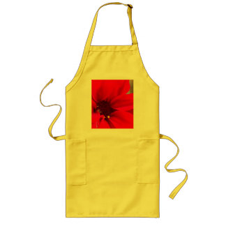 Red Petals Long Apron