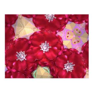 Red petals postcard